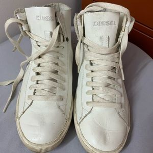 Diesel White High Top Sneaker Size 7